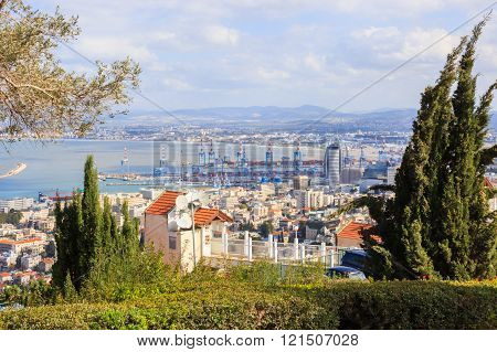 Haifa's Bay and Downtown