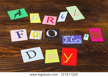 April fool's day, paper letters