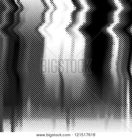 Glitch vector background. Halftone texture