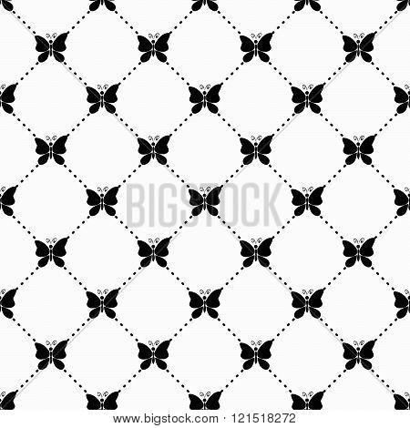 Butterfly monochrome pattern