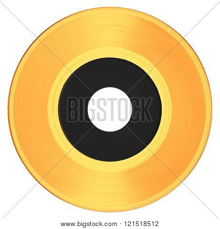 Gold Record With White Label