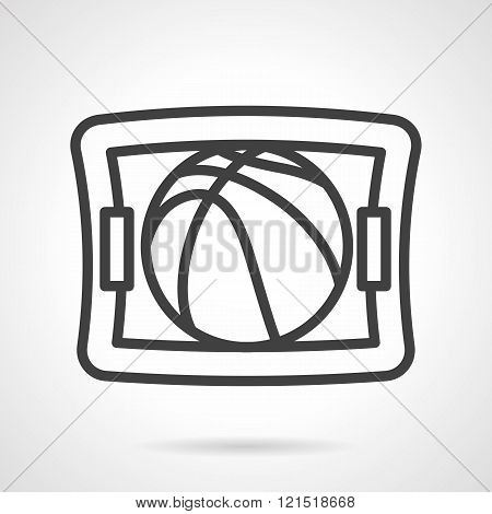Basketball game black line design vector icon