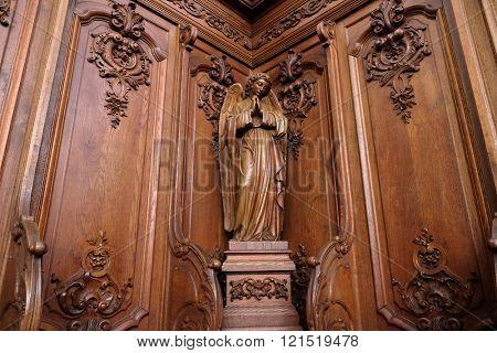 PLETERJE, SLOVENIA - NOVEMBER 06: Angel, Carthusian monastery in Pleterje, Slovenia on November 06, 2015.