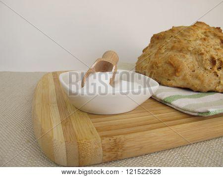 Homemade soda bread and baking soda