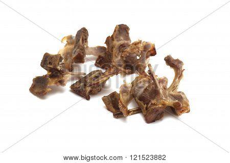 Easter meal of lamb bones