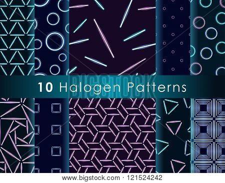 Halogen Seamless Pattern