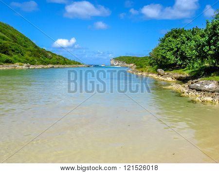 Plage de la Porte d'Enfer Guadeloupe
