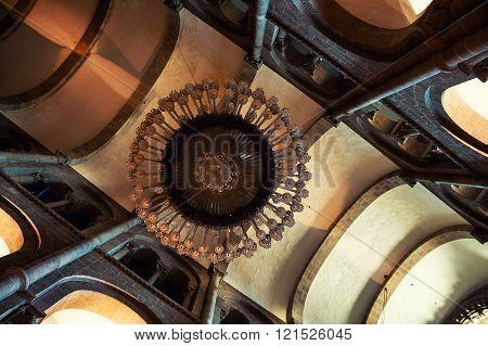 Interior of Cathedral of Santiago de Compostela, Spain