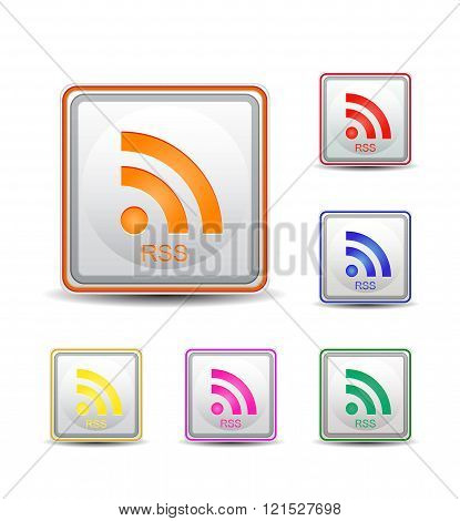 Square Rss Colorful