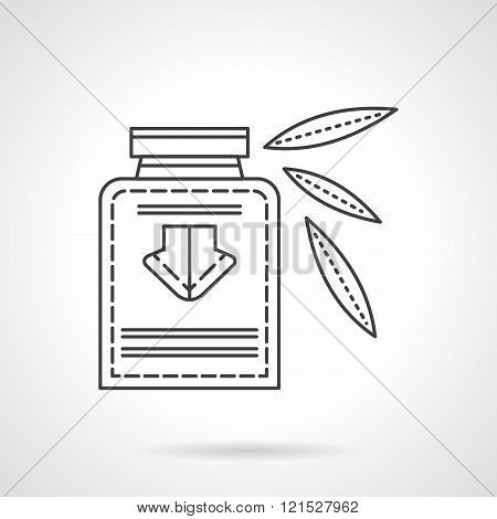 Herbal tincture flat line design vector icon