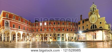 San Giacomo Di Rialto - Oldest Church In Venice At Night