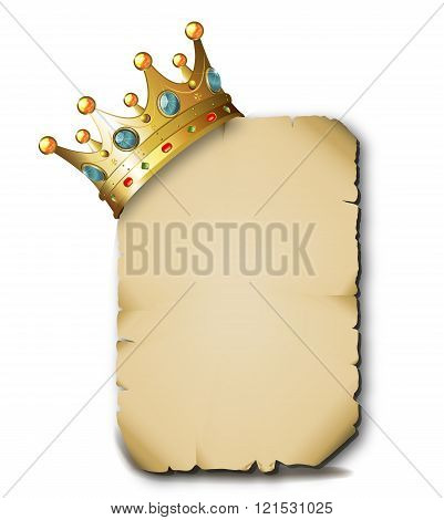 Crown On A Blank Parchment