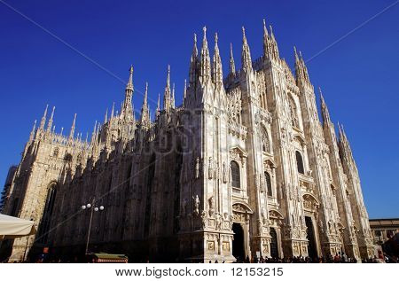 facade of Duomo, Milan cathedral