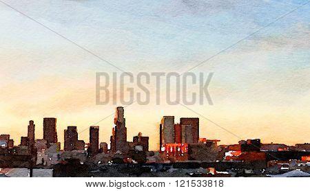 Nice interesting Painting Of Los Angeles