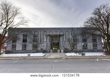 Concord Public Library building in Corcord, New Hampshire.