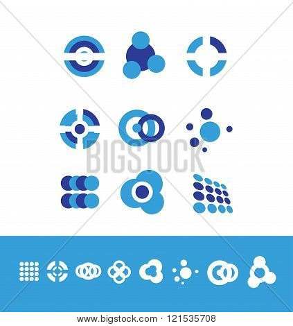 Corporate Business Logo Set Circle