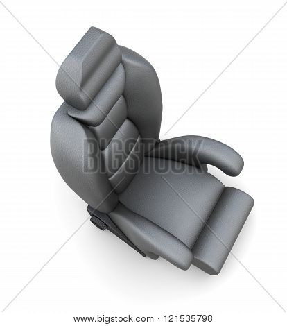 Car seat isolated on white background. 3d render image