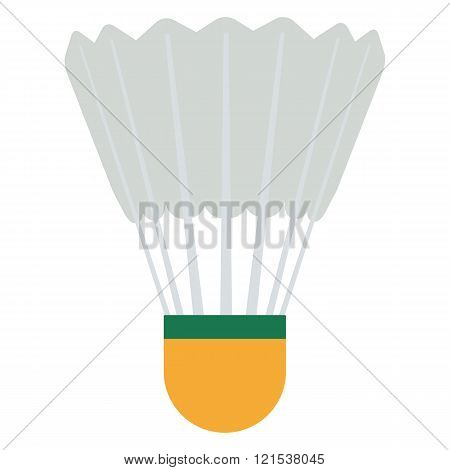 Vector Badminton shuttlecock illustration. Shuttlecock isolated on white background. Badminton shutt