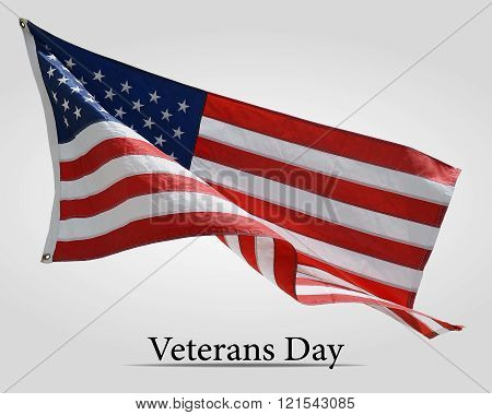 Flag America On Veterans Day - Background.