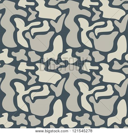 Abstract spots seamless pattern. Colorful stylized spots texture. EPS8 vector illustration includes Pattern Swatch.