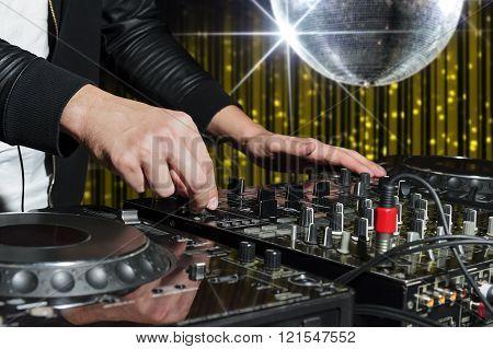 DJ at nightclub part
