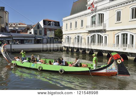Traditional Colorful Boat Aveiro