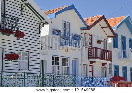 White Beach Houses