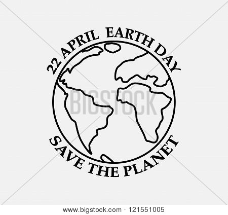 Earth Day - Icon In Flat Design.
