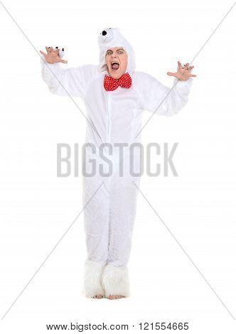 Actor Dressed As Polar Bear