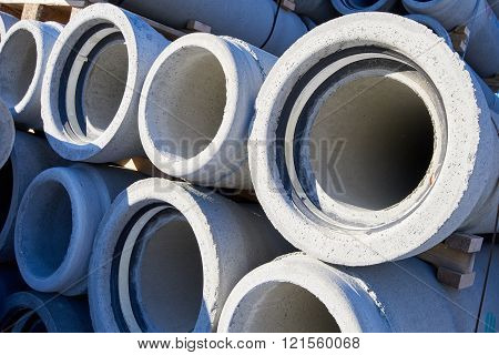 Concrete industrial pipes