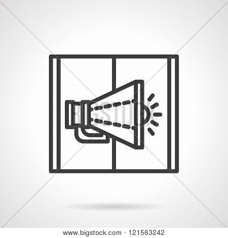 Loudspeaker black line design vector icon
