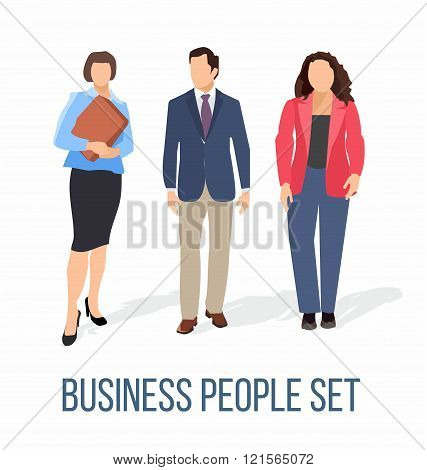 business people human resources flat vector illustration