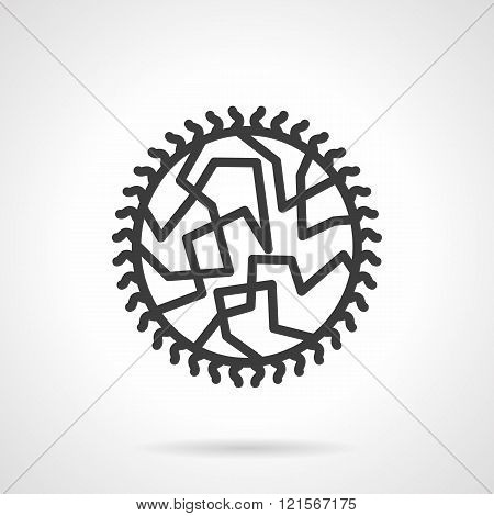 Viral infection black line design vector icon
