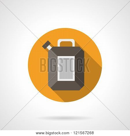 Fuel canister round flat color vector icon