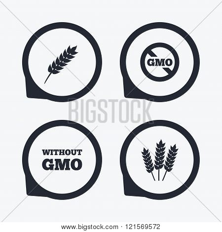 Agricultural icons. GMO free symbols.