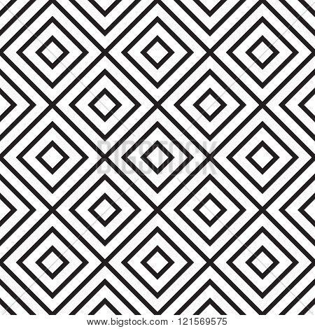 Vector seamless pattern. Modern stylish texture. Black and white seamless geometric pattern