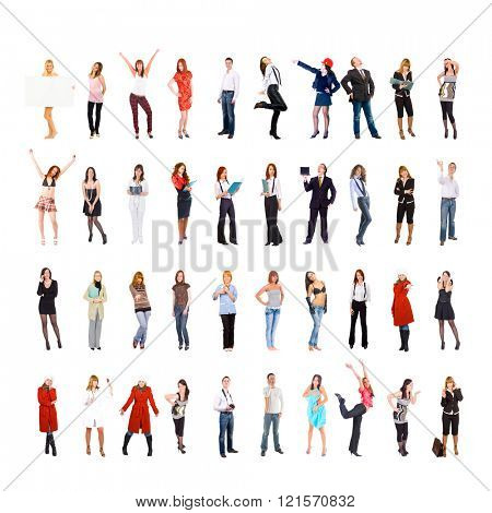 Big Group Workforce Concept