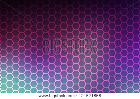Honey comb pattern with abstract background colors
