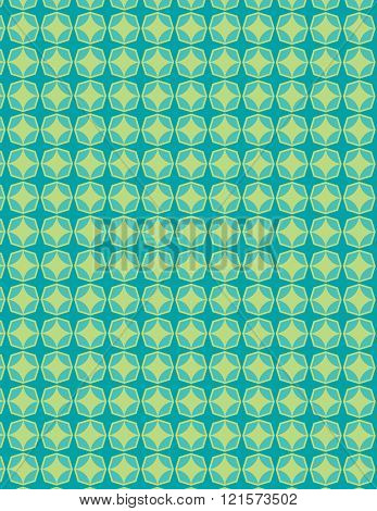 Green star pattern over blue green background