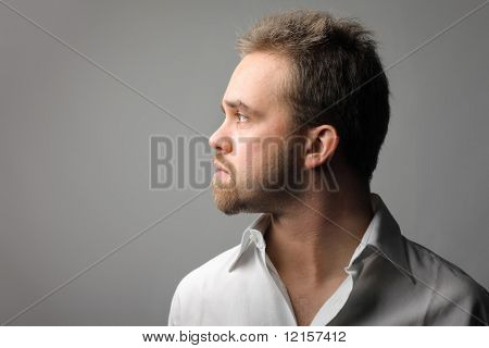 profile of bearded man