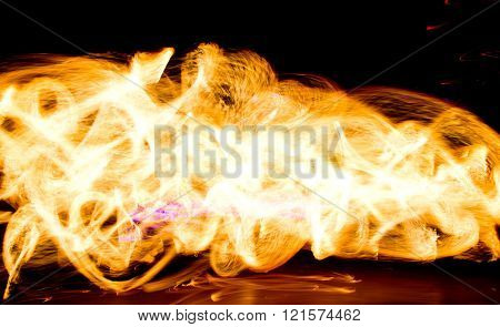 Abstract Drawing Fire Show