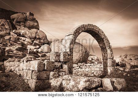 ruins of São João ancient church in Monsanto village, municipality of Idanha-a-Nova, Portugal