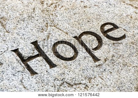 Hope Inscribed In Rock