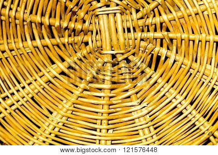 Close Up Of Wicker Basket Texture