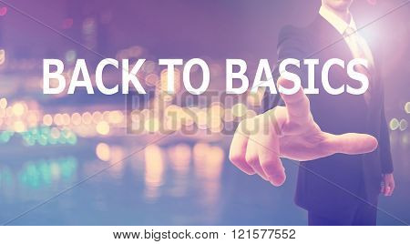 Back To Basics Concept With Businessman