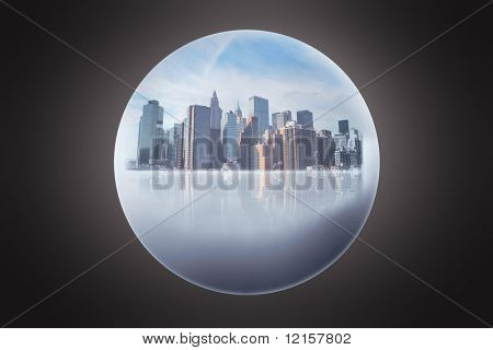 new york city inside a sphere