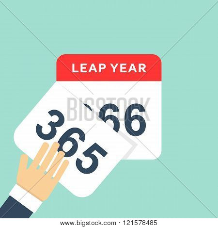 Calendar style flat leap year 366 days. Calendars Design 2016