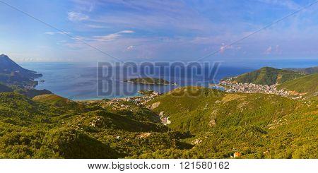 Budva riviera - Montenegro - nature travel background