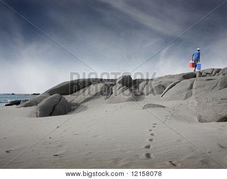 peddler on the beach