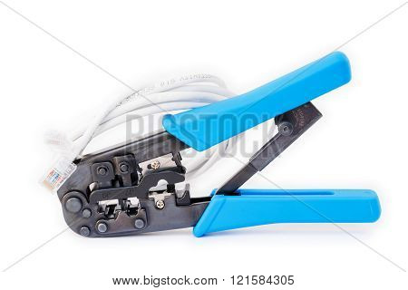 Lan Cat5 Cat6 Cable Crimper Pliers To Ethernet Tool.
